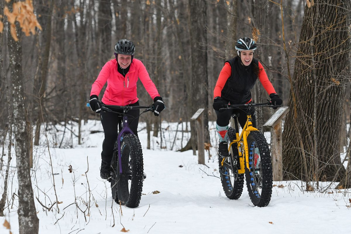 Fat biking the trails