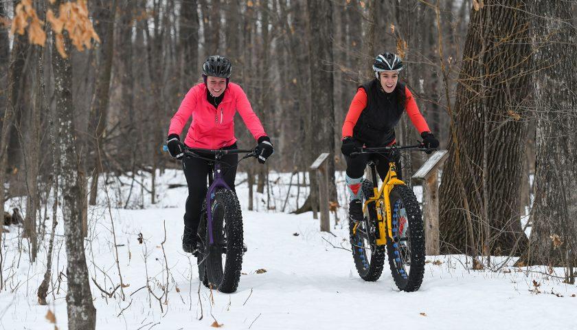 Fat biking the trails