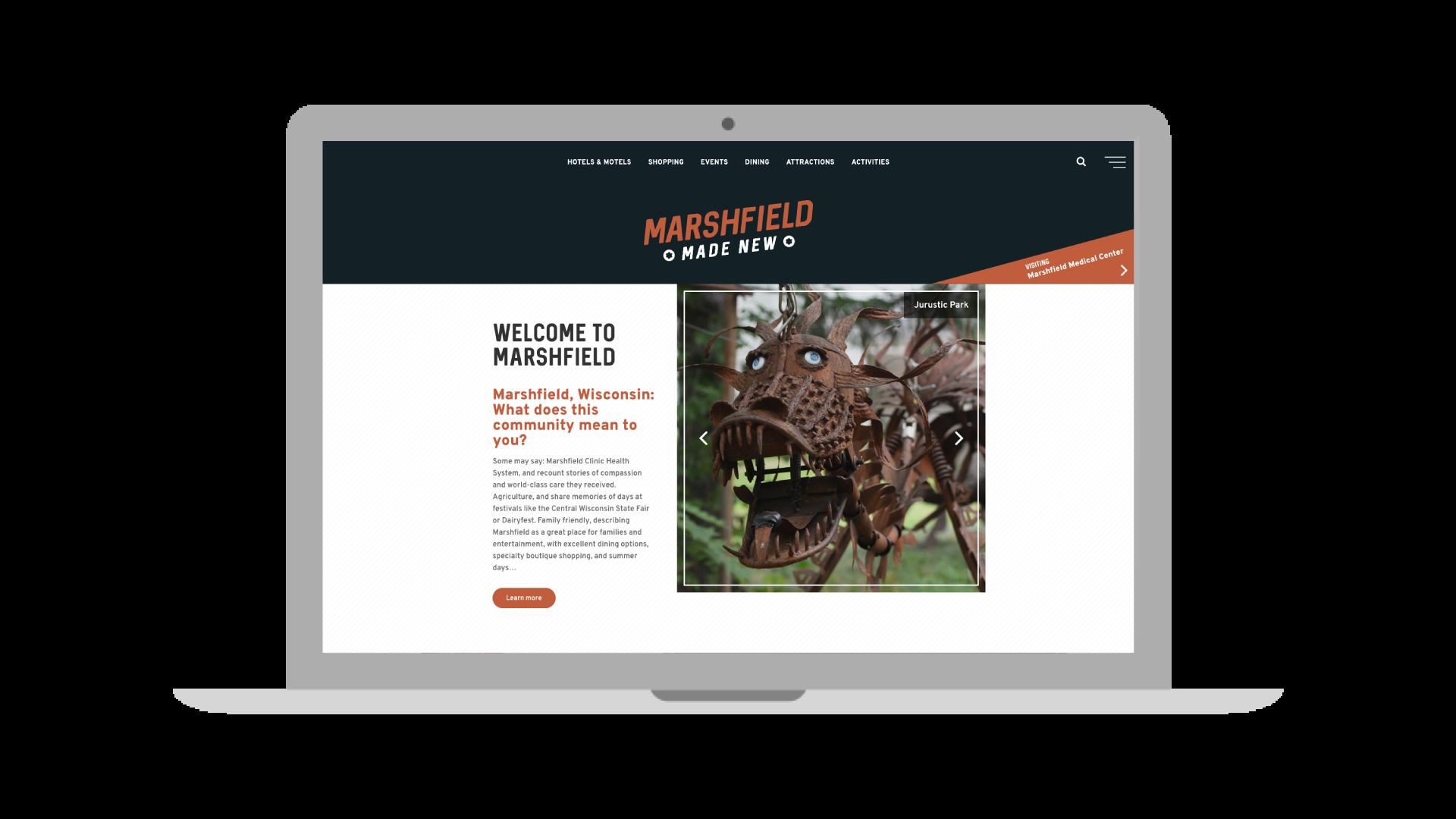 Explore the all new Marshfield CVB website