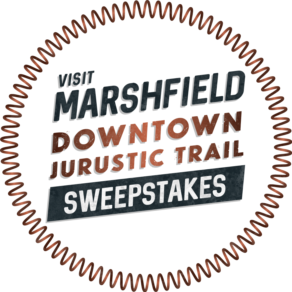 Visit Marshfield Downtown Jurustic Trail Sweepstakes